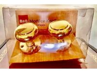 MORTICE KNOBS POLISHED BRASS BNWT