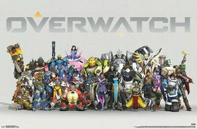 Overwatch Video Game Anniversary Lineup Wall Poster 22x34 Trends RP6689