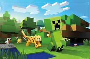 MINECRAFT - OCELOT CHASE - VIDEO GAME POSTER - 22x34 - 15038