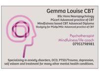 Gemma Louise CBT - Private Psychoherapist Furness