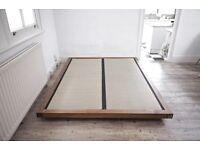 Kingsize bed base with 2 tatami mats