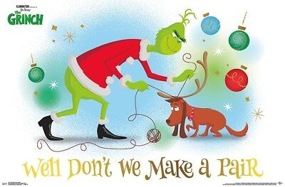 Grinch Poster (GRINCH MOVIE - MAKE A PAIR POSTER - 22x34 - SEUSS MAX)