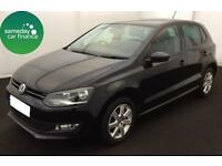 £159.26 PER MONTH BLACK 2014 VOLKSWAGEN POLO 1.4 MATCH DSG 5 DOOR DIESEL AUTO