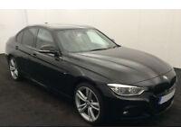 Black BMW 320 2.0TD 4X4 2015 d xDrive M Sport FROM £83 PER WEEK!