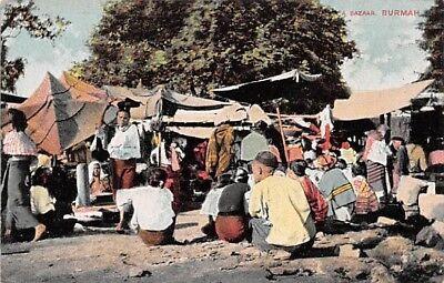 BURMA - MYANMAR ~ NATIVE MARKET, BUYERS & SELLERS ~ c 1904-14