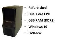Dual Core PC, 6GB RAM, 500GB HDD (w/ keyboard, mouse, just add screen!)
