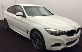 White BMW 320i M Sport GT Red Leather FROM £67 PER WEEK!