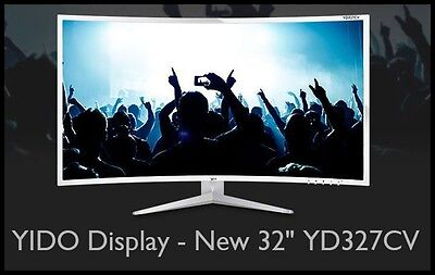 "YIDO Display - New 32"" YD327CV 60HZ FHD LED 1920 X 1080 Full HD Monitor"