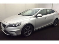 SILVER VOLVO V40 2.0 T2 D4 R DESIGN 1.6 D2 SE LUX FROM £57 PER WEEK!