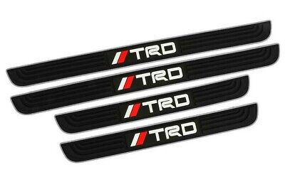 4PCS TRD Silver Rubber Car Door Scuff Sill Cover Panel Step Protector