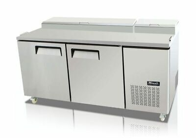New 67 2 Door Refrigerated Pizza Prep Table Migali C-pp67-hc Nsf 9647 Cooler