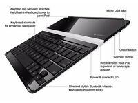 Logitech Bluetooth keyboard slim cover for iPad 2