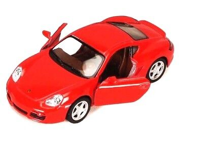 Porsche Cayman S 1/34 scale Diecast Model Toy Car Red  Kinsmart 5307D - Red Toy Car