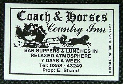 Matchbox label Bouldens Coach & Horses Country Inn Balmedie Aberdeenshire MM265