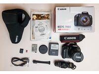 CANON 700D Black Digital SLR Camera WITH EF-S 18-55mm IS STM LENS + EXTRAS