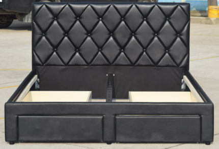 Brand New Pu Leather King Bed With 4 Draw