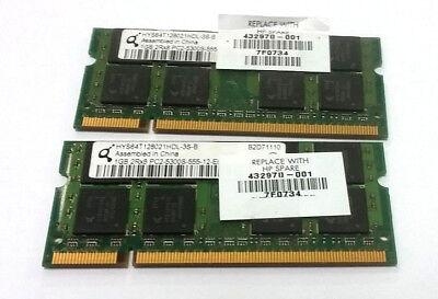 HYMP512S64CP8-Y5 OEM HYNIX LAPTOP DDR2 MEMORY 2GB(1GBx2) 2RX8 PC2-5300S-555-12