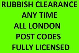RUBBISH CLEARANCE 07961784261 SOIL DISPOSAL HOUSE CLEARANCE BUILDERS WASTE 24/7 LONDON @ LOW COST