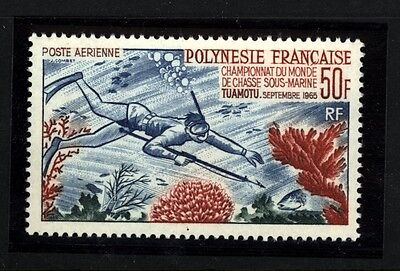 FRENCH POLYNESIA SCOTT C37 SCUBA DIVING  MINT NEVER HINGED GORGEOUS
