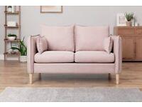 Etta 2 Seater Fabric Sofa in a Box - Pink