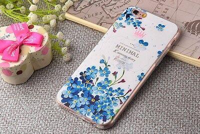 i Phone 6 Flower TPU Case Blue  attractive (4.7