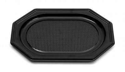 10 Catering- Trays schwarz, 350 x 250 x 20 mm, Partyplatten Servierplatten