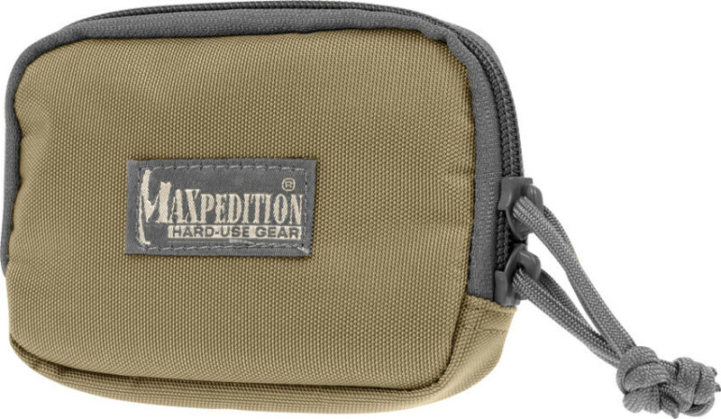 "Maxpedition MX3526KF Hook & Loop Zipper Pocket Khaki/Foliage 3"" x 5"" x 0.75"""