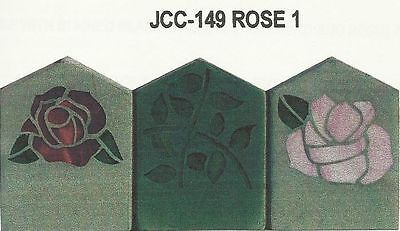 Rose 1 Stained Glass Pattern Garden Stone Borders New!