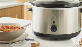 *Brand New Boxed Asda George Home 3L Slow Cooker - Stainless Steel*