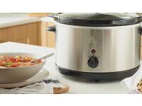 Brand New Boxed Asda George Home 3L Slow Cooker - Stainless Steel - 3 Settings*