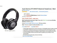 Audio-technica studio headphones brand new