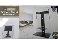 Tv floor mount with stand
