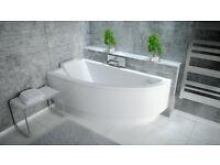 OFFSET COARNER BATH PRAKTIKA 150 X 70CM BATH PANEL AND LEGS INCLUDED * LEFT HAND*