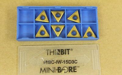 7 New Kaiser Thinbit Mini-bore Dura-max Mbciw15d3c Carbide Inserts Mbc-iw-15d3c