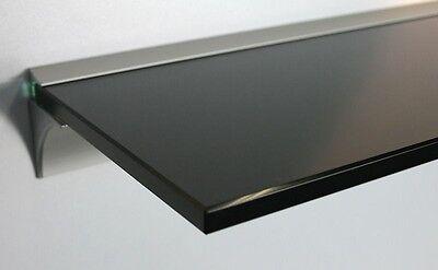 Drei Regal (Glasregal 8MM Glas schwarz in drei Größen / Profil Alu silbern /Glasablage Board)
