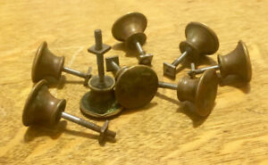 8 ANTIQUE BRASS DRAWER KNOBS PULL HANDLE HARDWARE DRESSER