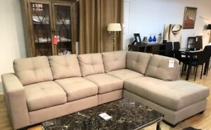 Light Grey Fabric 4 pc Sectional