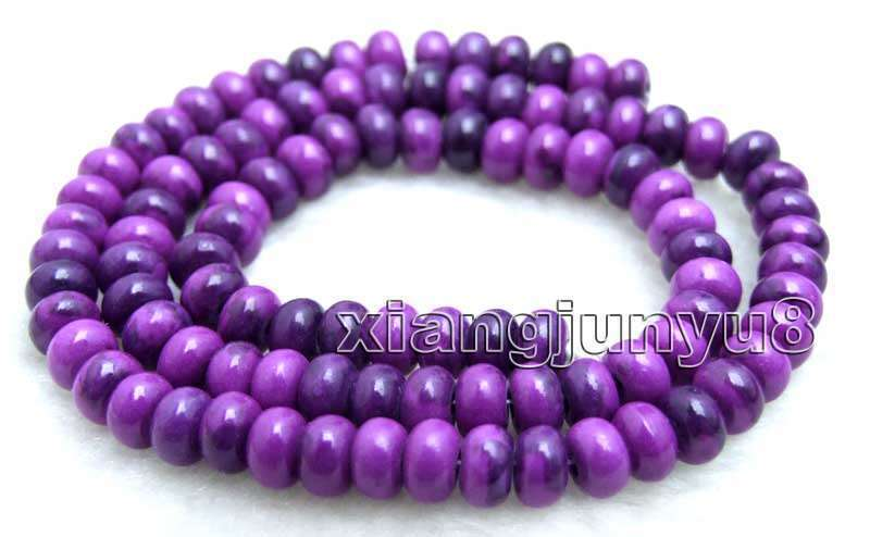 4*6mm Rondelle Natural Purple Sugilite Loose Beads Jewelry Making Strands 15