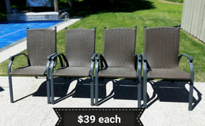 Stacking Patio Chairs$39 each *Delivery Available*
