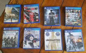 PS4 GAMES!! GREAT CONDITION!