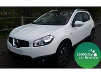 £203.83 PER MONTH WHITE 2012 NISSAN QASHQAI 1.6 N-TEC + IS 5 DOOR PETROL MANUAL
