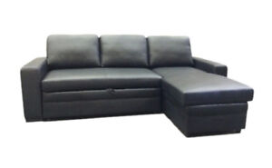Wonderful buy Genuine Leather Sectional Sofa Bed with chaise