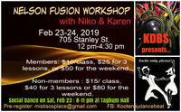 Nelson Fusion Dance  Workshop with Niko & Karen from Vancouver!