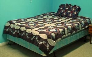 Complete Twin Size Bed in a bag in EUC/New *Bed NOT included!*