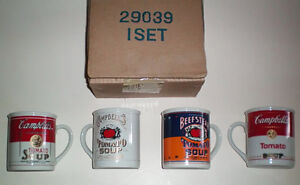 Vintage New Campbell's Soup 125th Aniversary Soup Mug Collection
