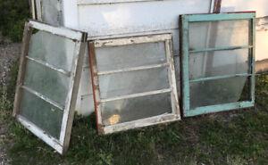 VINTAGE 3 PANE WINDOWS