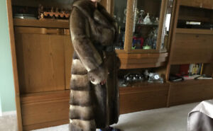 Beautiful Vintage Muskrat Coat