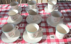 8 Pfaltzgraff cups and saucers plus one extra mug