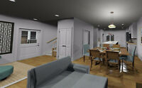3D Rendering, Drafting and Design, Permit Drawings