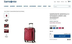Brand new Red SAMSONITE carry-on luggage  London Ontario image 1